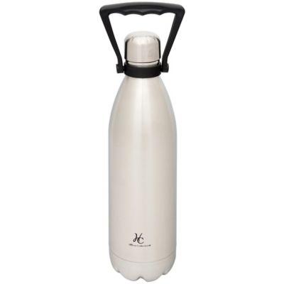 Termo botella de acero inoxidable 1 L plateado