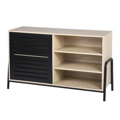 Aparador Aurora wood black 74 x 74 x 40 cm