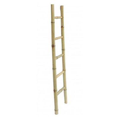 Escalera decorativa de bambú 5 escalones