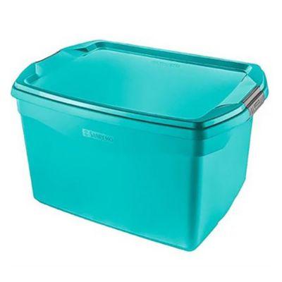 Caja organizadora de plástico verde 29 L