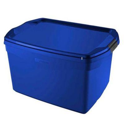 Caja organizadora de plástico azul 29 L