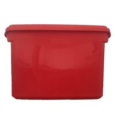 Caja organizadora de plástico con tapa infantil rosa 29 L