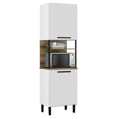 Armario para horno Acero 2 puertas 69 cm blanco