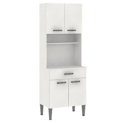 Armario para horno Córdoba 4 puertas 1 cajón 60 cm blanco