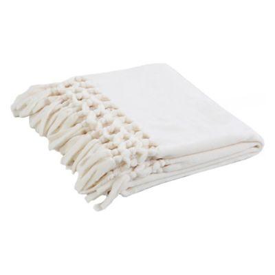 Manta Flanel Flecos blanca 125 x 150 cm