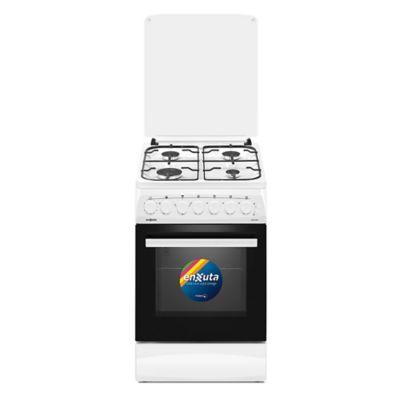 Cocina a gas CENX5542W 52 cm 4 hornallas blanca