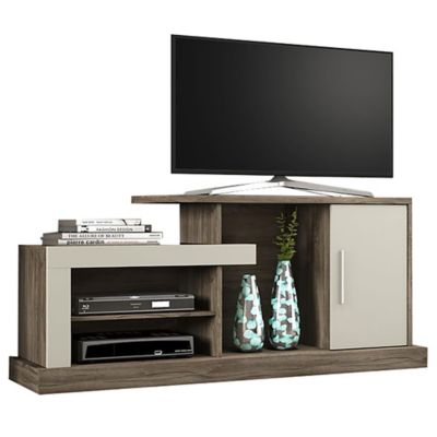Rack de TV Lottus chocolate y nuez 67 x 135 x 40 cm