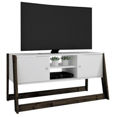 Rack de TV blanco 52 x 104 x 84 cm