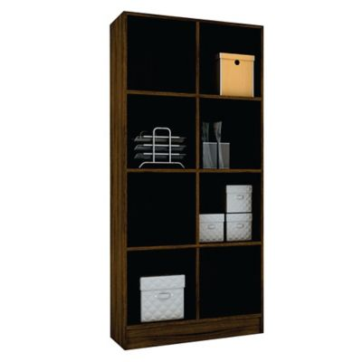 Biblioteca con estantes de MDP castaño