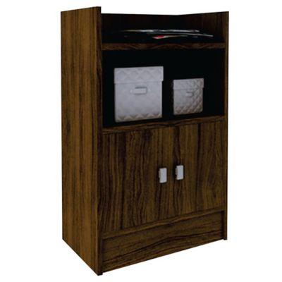 Biblioteca armario de MDP castaño