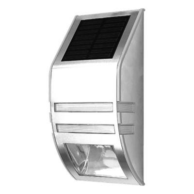 Aplique solar con fotocélula gris