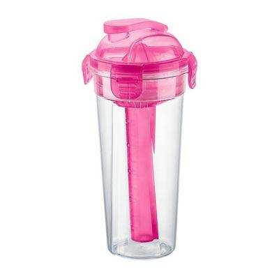 Vaso con traba y accesorios rosa 600 ml