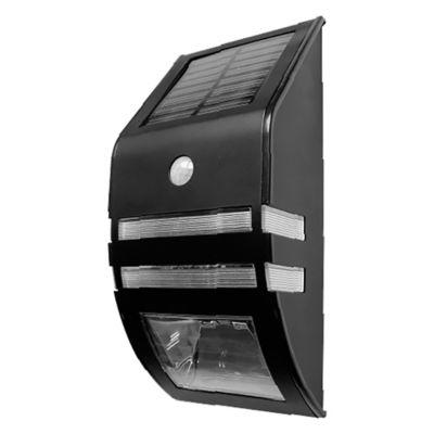 Aplique solar con sensor de movimiento y fotocélula negro