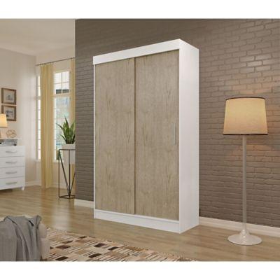 Placard Apiuna 2 puertas con 2 cajones blanco y sonora