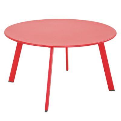 Mesa ratona de jardín de acero roja