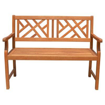 Banco de jardín de madera natural