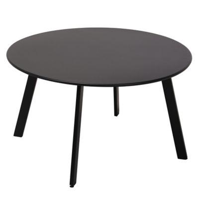 Mesa ratona de jardín de acero negra
