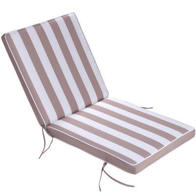 Almohadón para silla beige y blanco