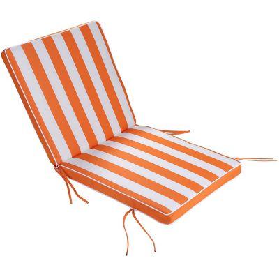 Almohadón para silla naranja y blanco