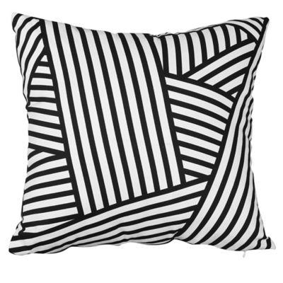 Almohadón 45 x 45 cm negro y blanco