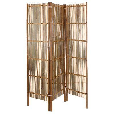 Biombo de bamboo 183 x 45 cm natural