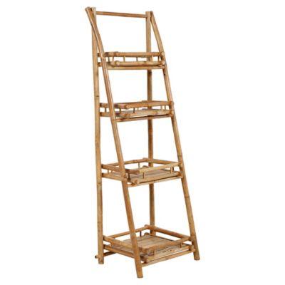 Estantería 4 niveles de bamboo 51 x 40 x 150 cm natural
