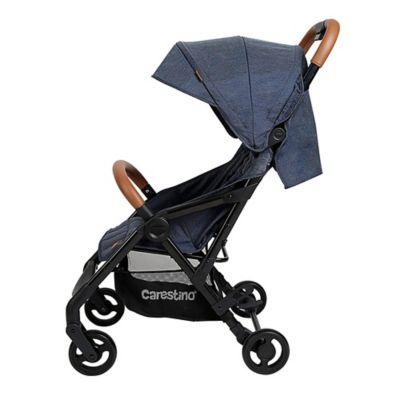 Cochecito Cici con cobertor de lluvia y mosquitero azul