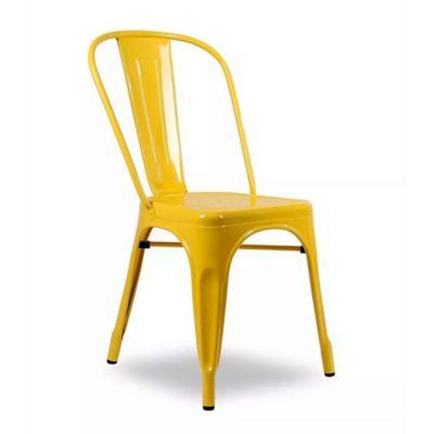 Silla de comedor Tolix amarilla