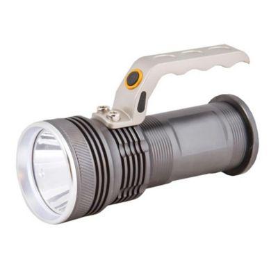 Linterna LED con zoom recargable 2 baterias negra