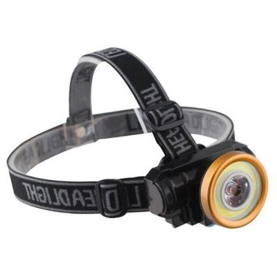 Linterna minera LED foco zoom negra