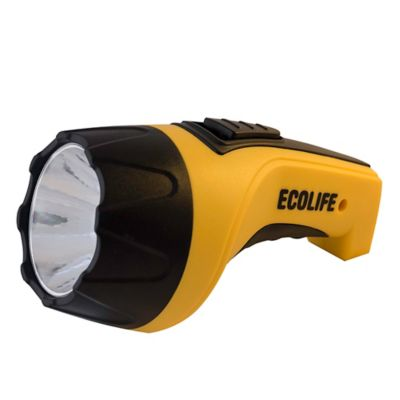 Linterna LED KL-279 recargable amarilla y negra