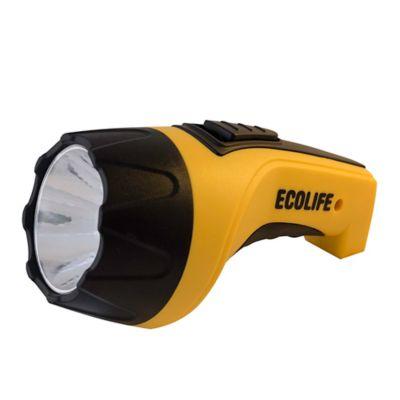 Linterna LED KL-289 recargable amarilla y negra
