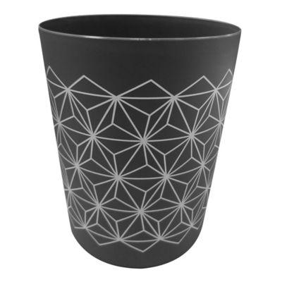 Papelero 5 L de plástico negro y gris