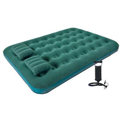 Colchón inflable 2 plazas con 2 almohadas e inflador