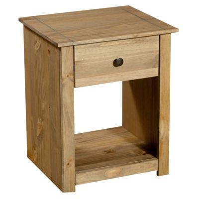 Mesa de luz con 1 cajón madera