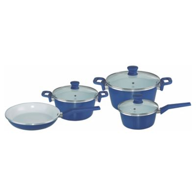 Batería de cocina 7 piezas azul