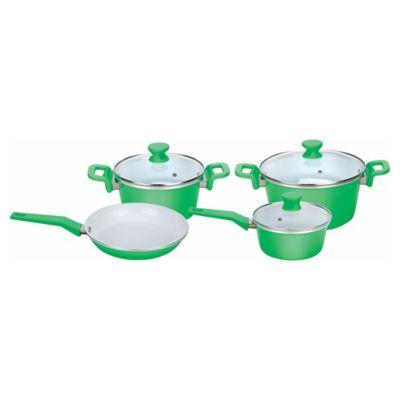 Batería de cocina 7 piezas verde