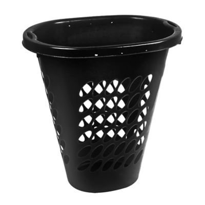 Canasto organizador de plástico con tapa negro 60 L