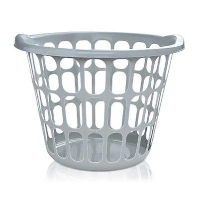 Canasto organizador de plástico blanco 25 L