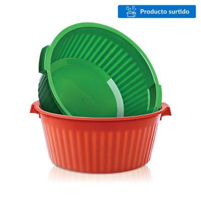 Palangana de plástico verde 12 L