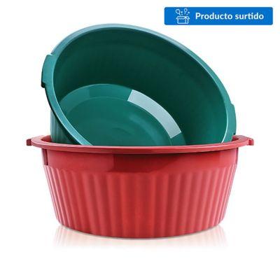Palangana de plástico verde 18 L