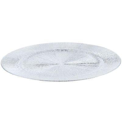 Plato texturado 33 cm plateado