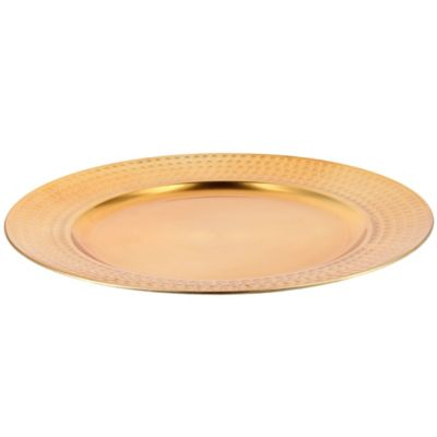 Plato liso 33 cm dorado
