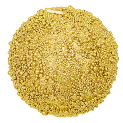 Vela texturada 10 cm dorada