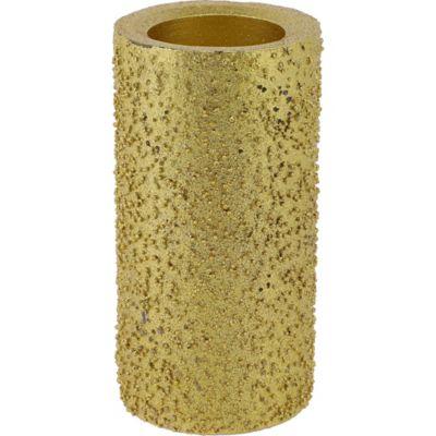 Vela texturada 15 cm dorada
