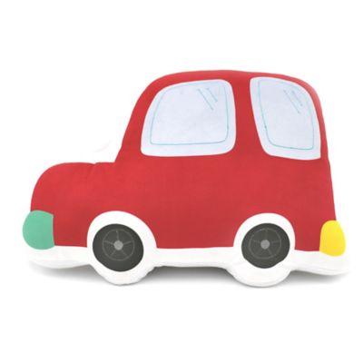Almohadón decorativo Auto 40 cm rojo