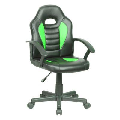 Silla gamer negro y verde