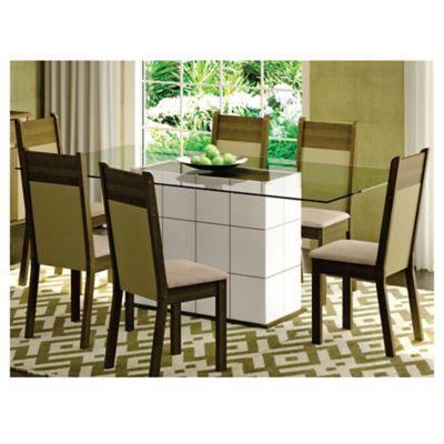Juego de comedor Jaque 1 mesa y 6 sillas