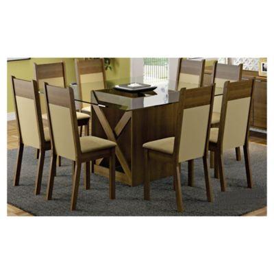 Juego de comedor Lorena 1 mesa y 8 sillas
