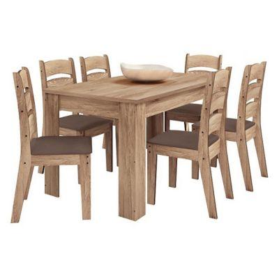 Juego de comedor Monique claro 1 mesa y 6 sillas
